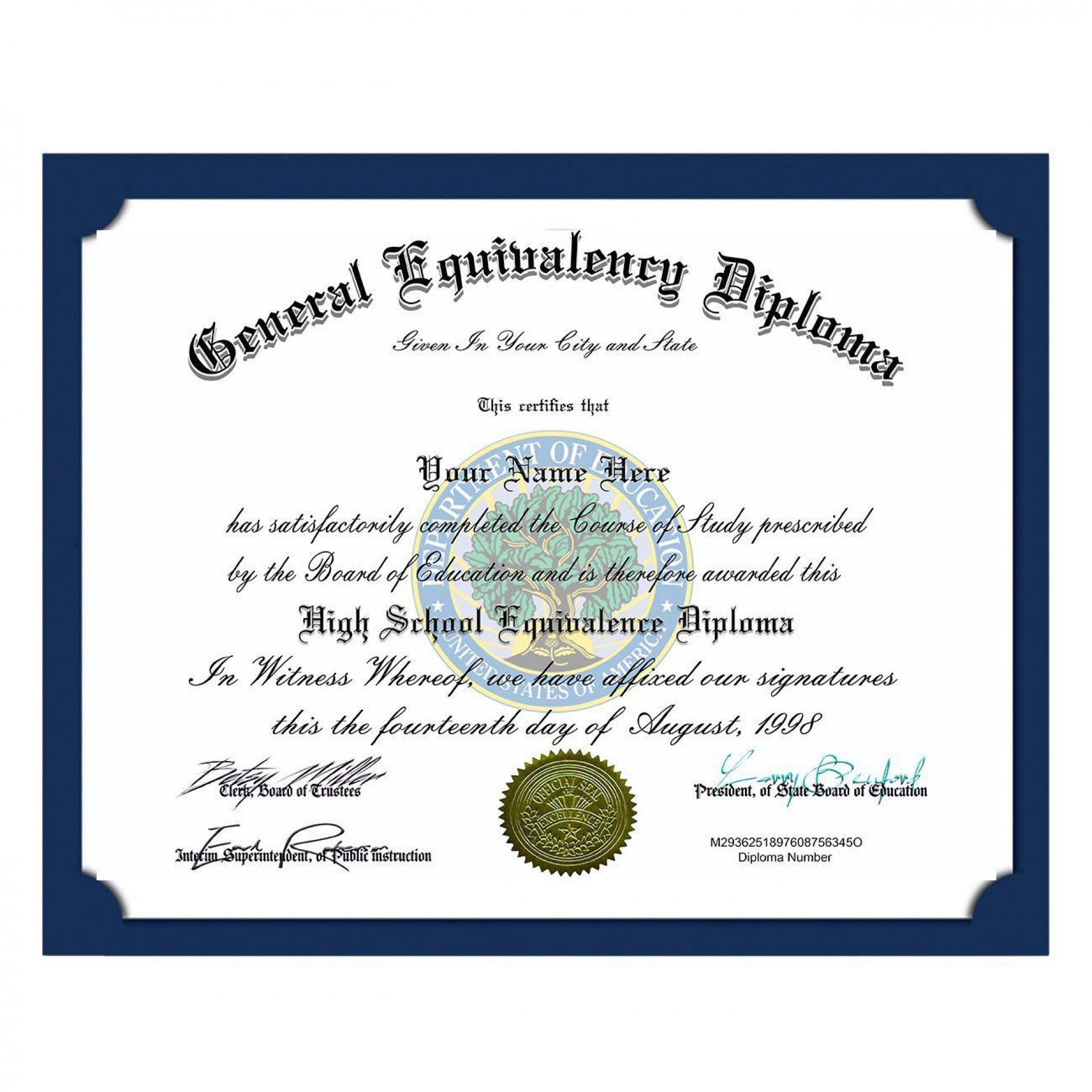 000 Incredible Ged Certificate Template Download Highest Quality  Free1920