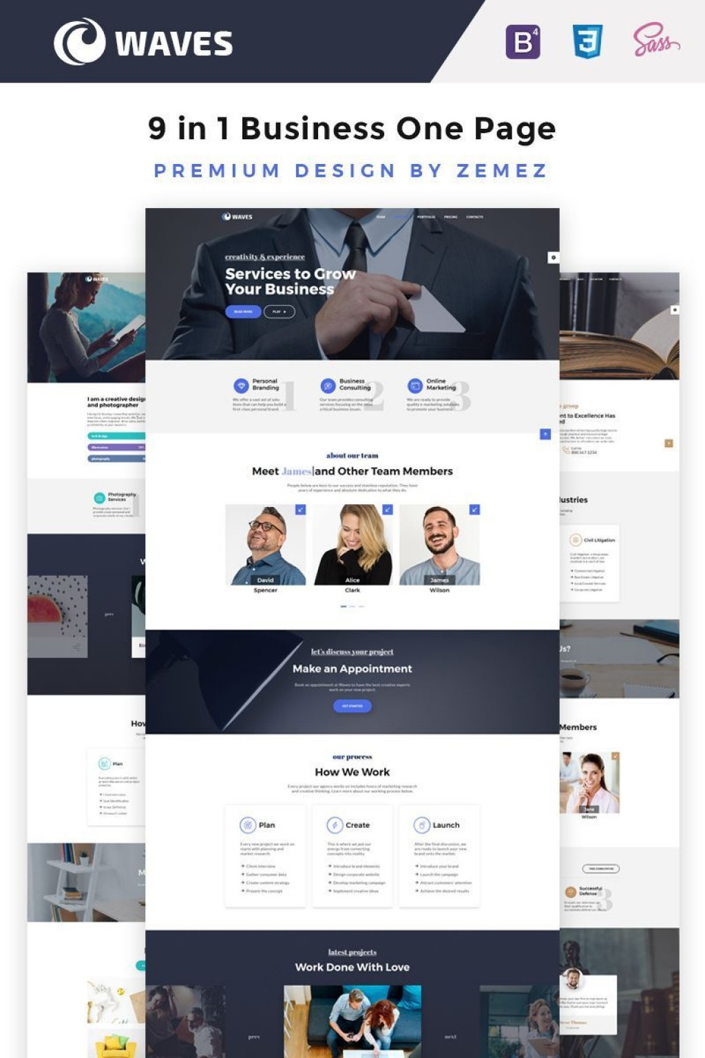 000 Incredible One Page Website Template Free Idea  Bootstrap 4 Html5 Download WordpresLarge