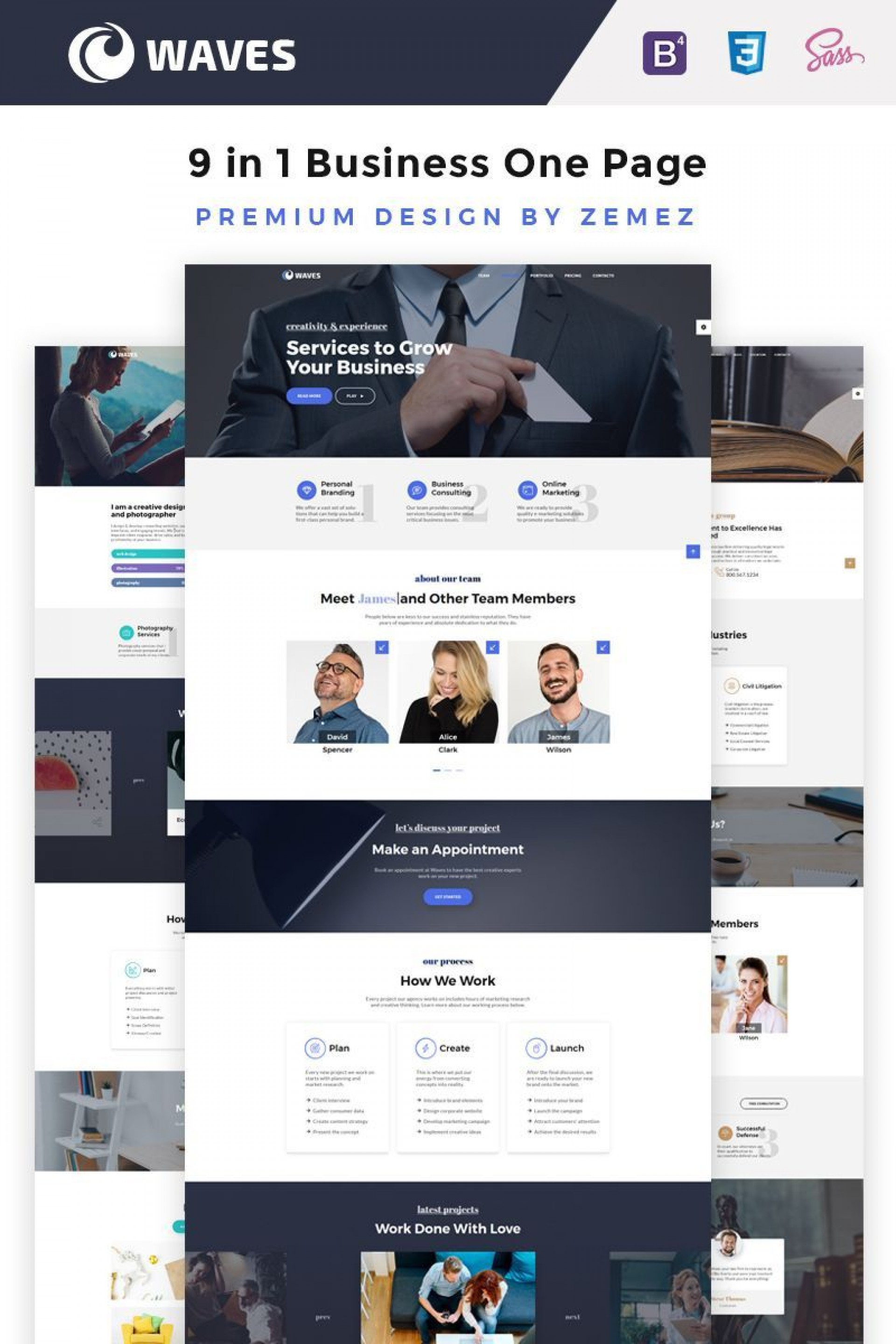 000 Incredible One Page Website Template Free Idea  Bootstrap 4 Html5 Download Wordpres1920