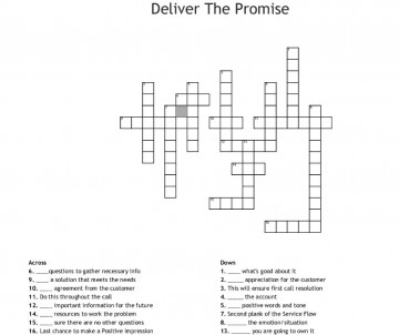 000 Incredible Promise Crossword Clue High Resolution  Go Back On A 6 Letter 3 Of Marriage 9360