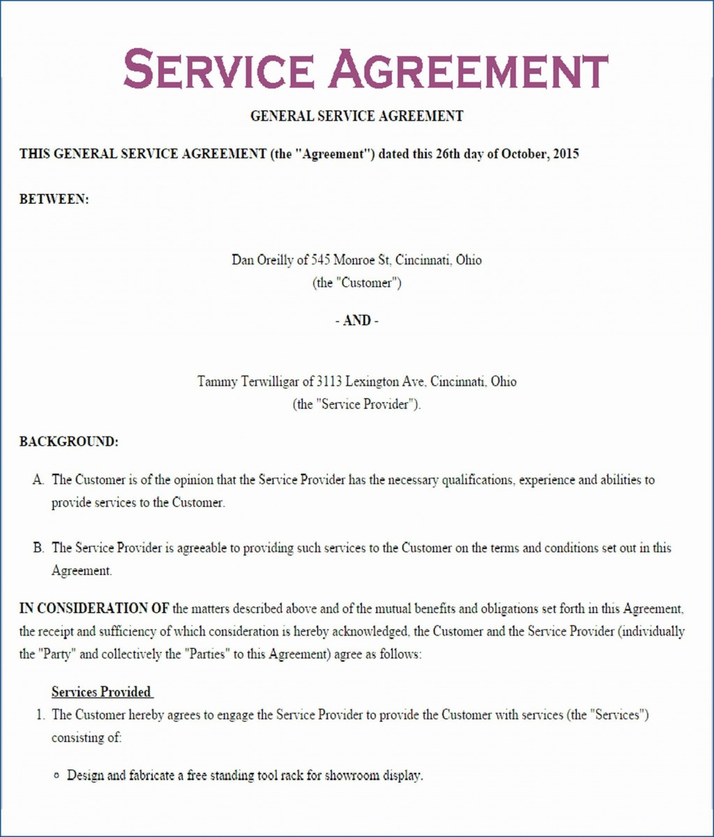 000 Incredible Service Contract Template Word High Definition  Agreement Format In MicrosoftLarge
