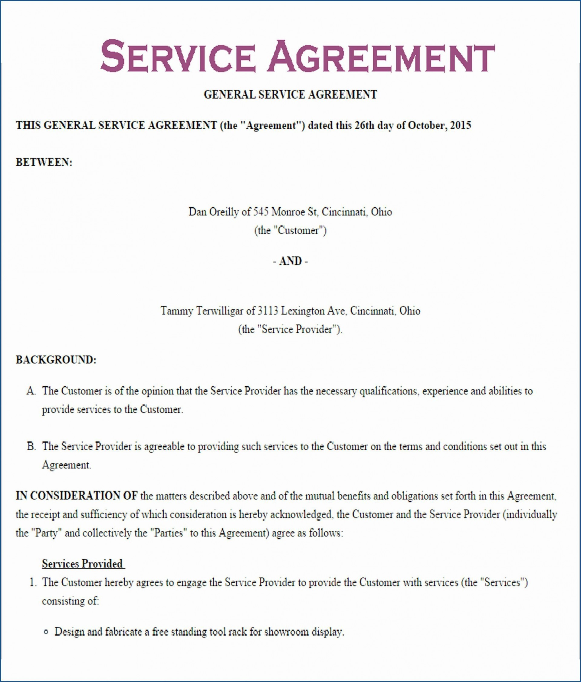 000 Incredible Service Contract Template Word High Definition  Agreement Format In Microsoft1920