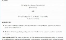000 Incredible Service Contract Template Word High Definition  Agreement Format In Microsoft