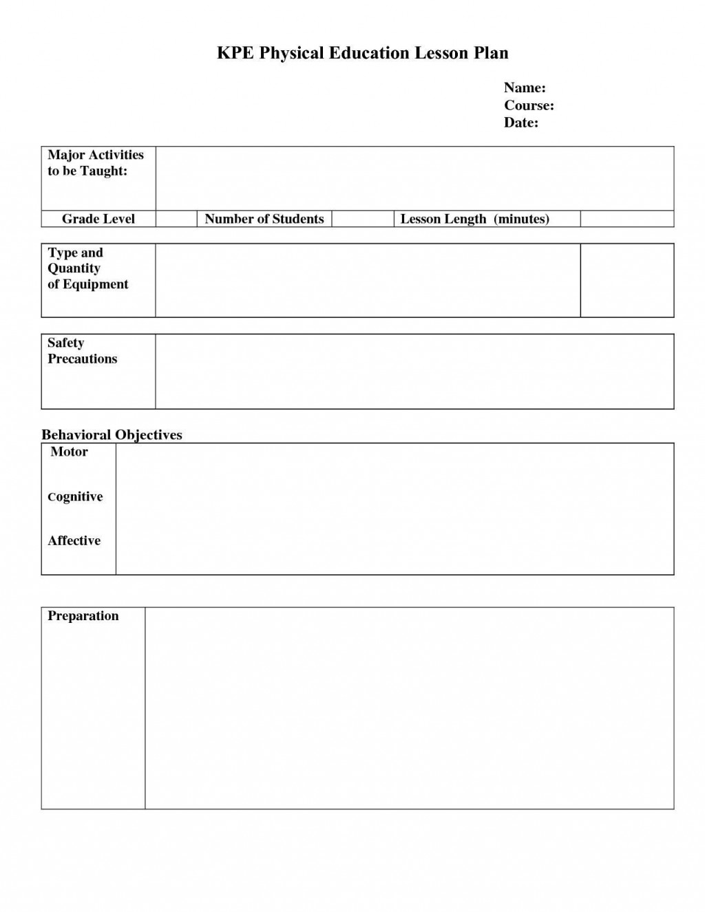 000 Incredible Simple Lesson Plan Template Highest Quality  Basic Format For Preschool Doc KindergartenLarge