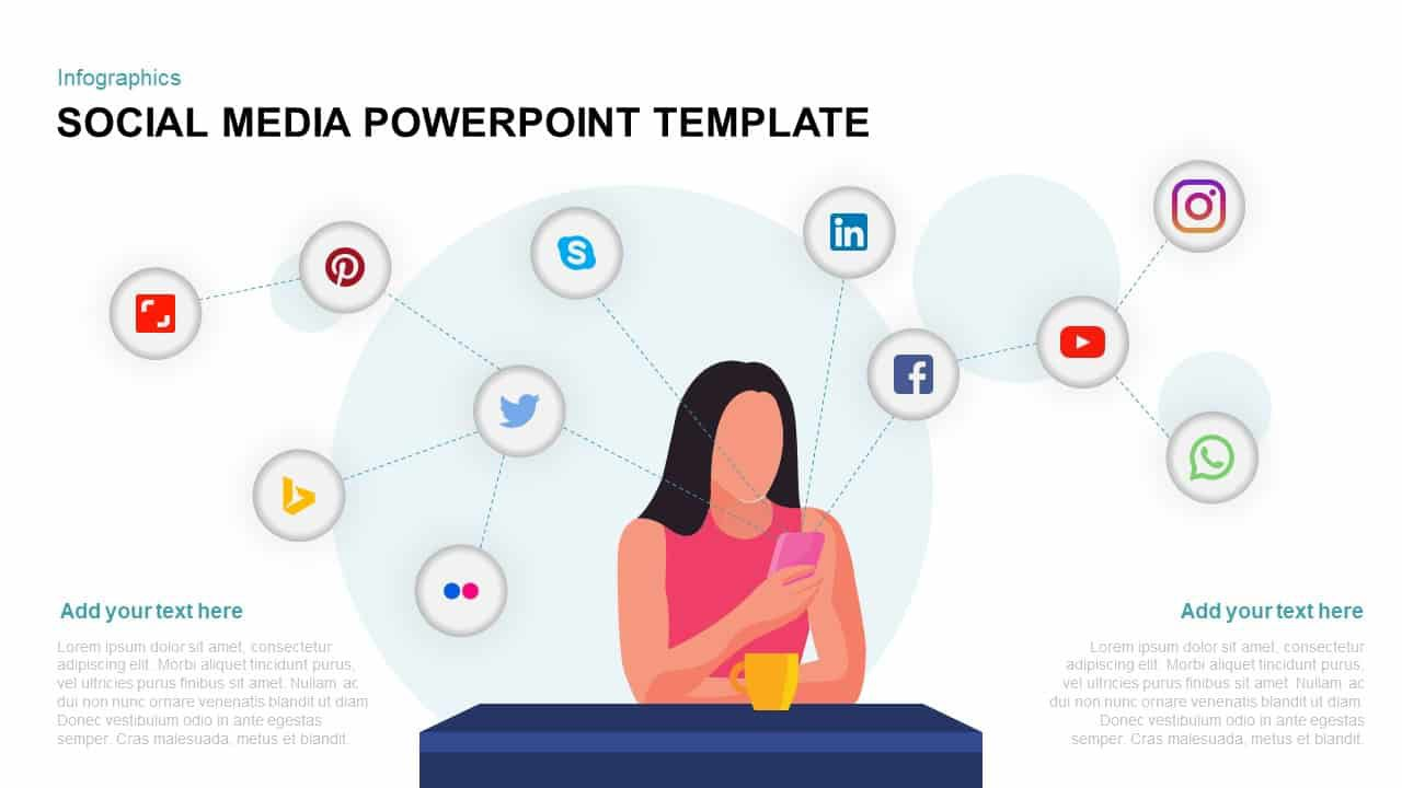 000 Incredible Social Media Powerpoint Template Free Idea  Strategy Trend 2017 - ReportFull