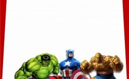 000 Incredible Superhero Birthday Invitation Template Free High Def