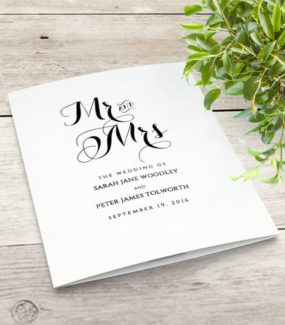000 Incredible Wedding Order Of Service Template Free High Definition  Front Cover Download Church960