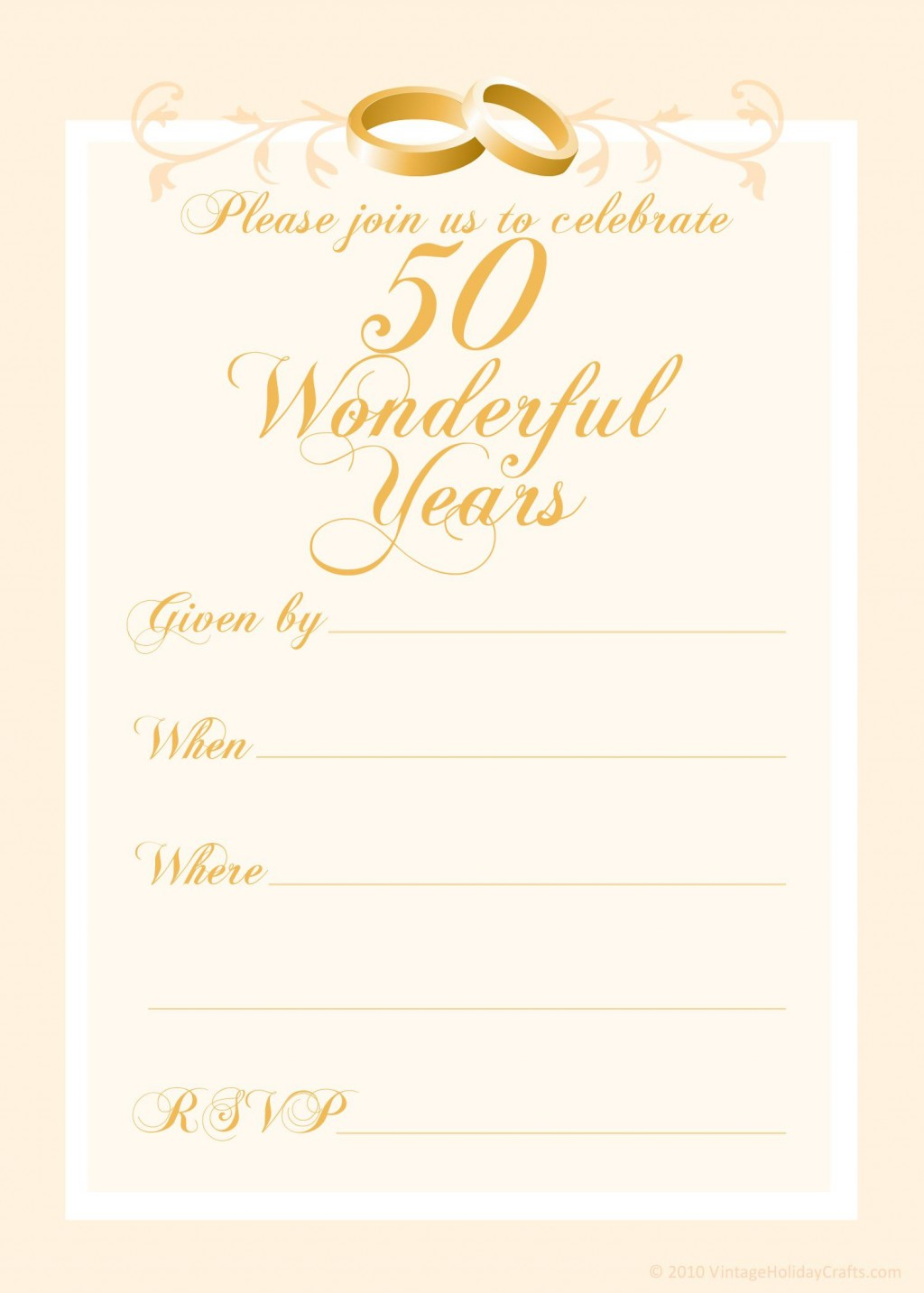000 Magnificent 50th Anniversary Invitation Template Inspiration  Templates Wedding Free Download GoldenLarge