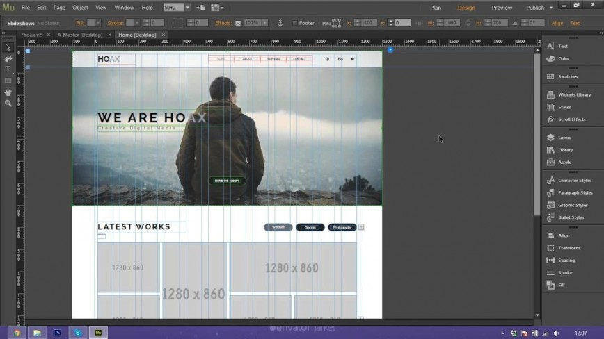 000 Magnificent Adobe Muse Template Free Photo  Premium Parallax Download Responsive