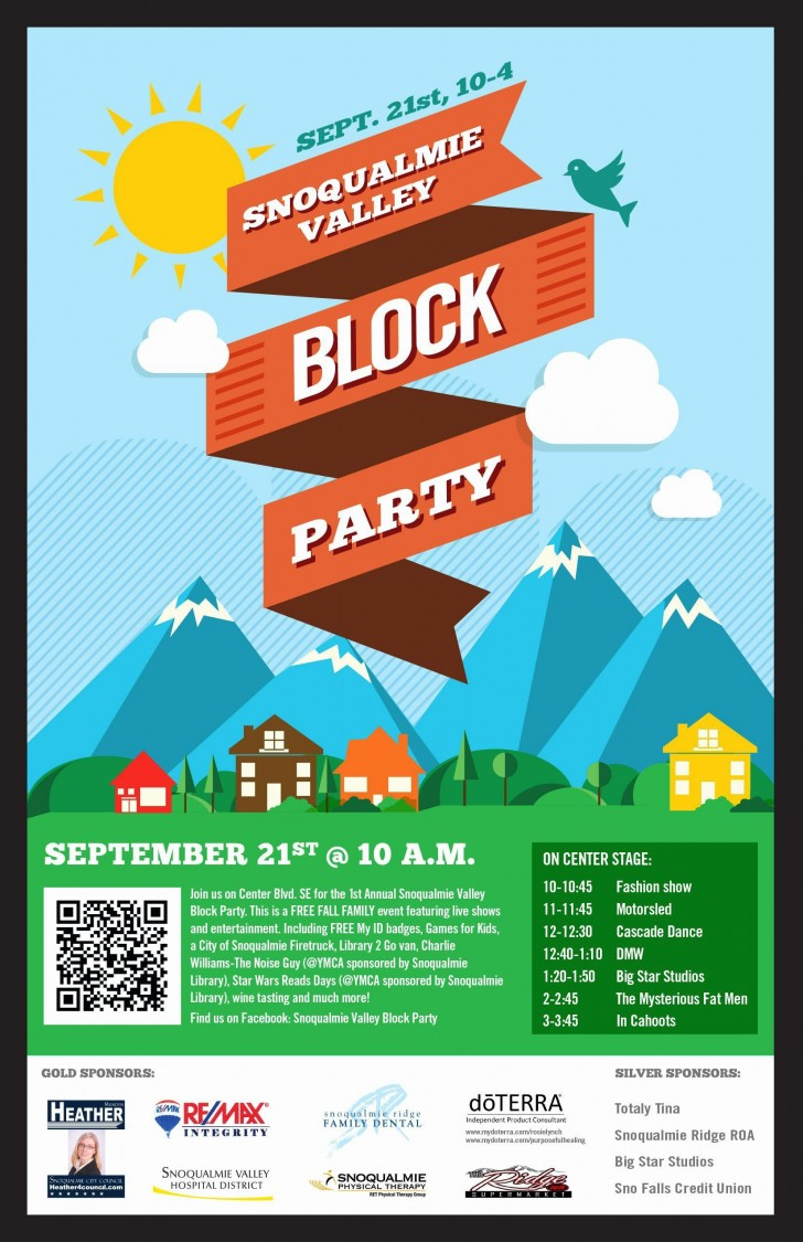 000 Magnificent Block Party Flyer Template Inspiration  Free728