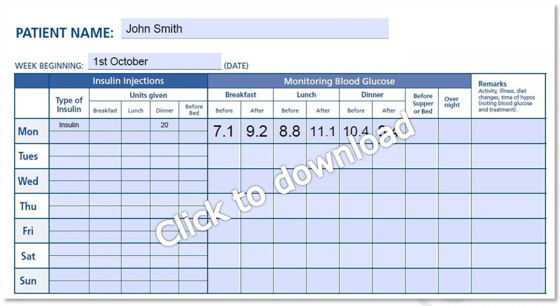 000 Magnificent Blood Glucose Log Form High Def  Forms Weekly Sheet Level1920