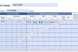 000 Magnificent Blood Glucose Log Form High Def  Sheet Excel Level Free Printable Monthly