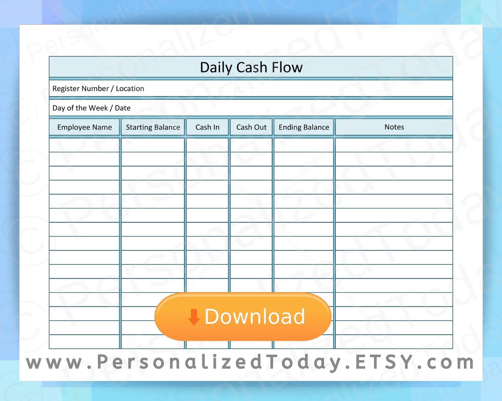000 Magnificent Cash Flow Format Excel Download Design  Forecast Template Indirect Statement In FreeFull