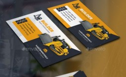 000 Magnificent Construction Busines Card Template Picture  Templates Visiting Company Format Design Psd