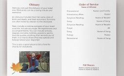 000 Magnificent Example Funeral Programme Sample  Format Of Program Template Free To Download