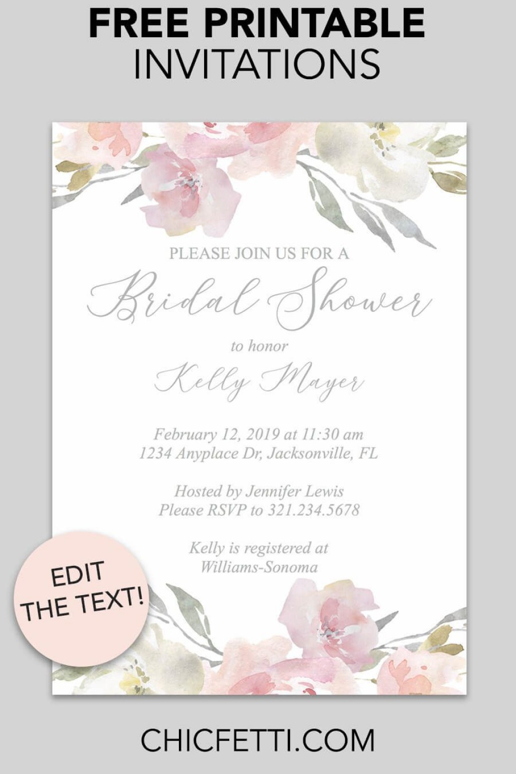 000 Magnificent Free Bridal Shower Invite Template Picture  Templates Invitation To Print Online Wedding For Microsoft WordLarge