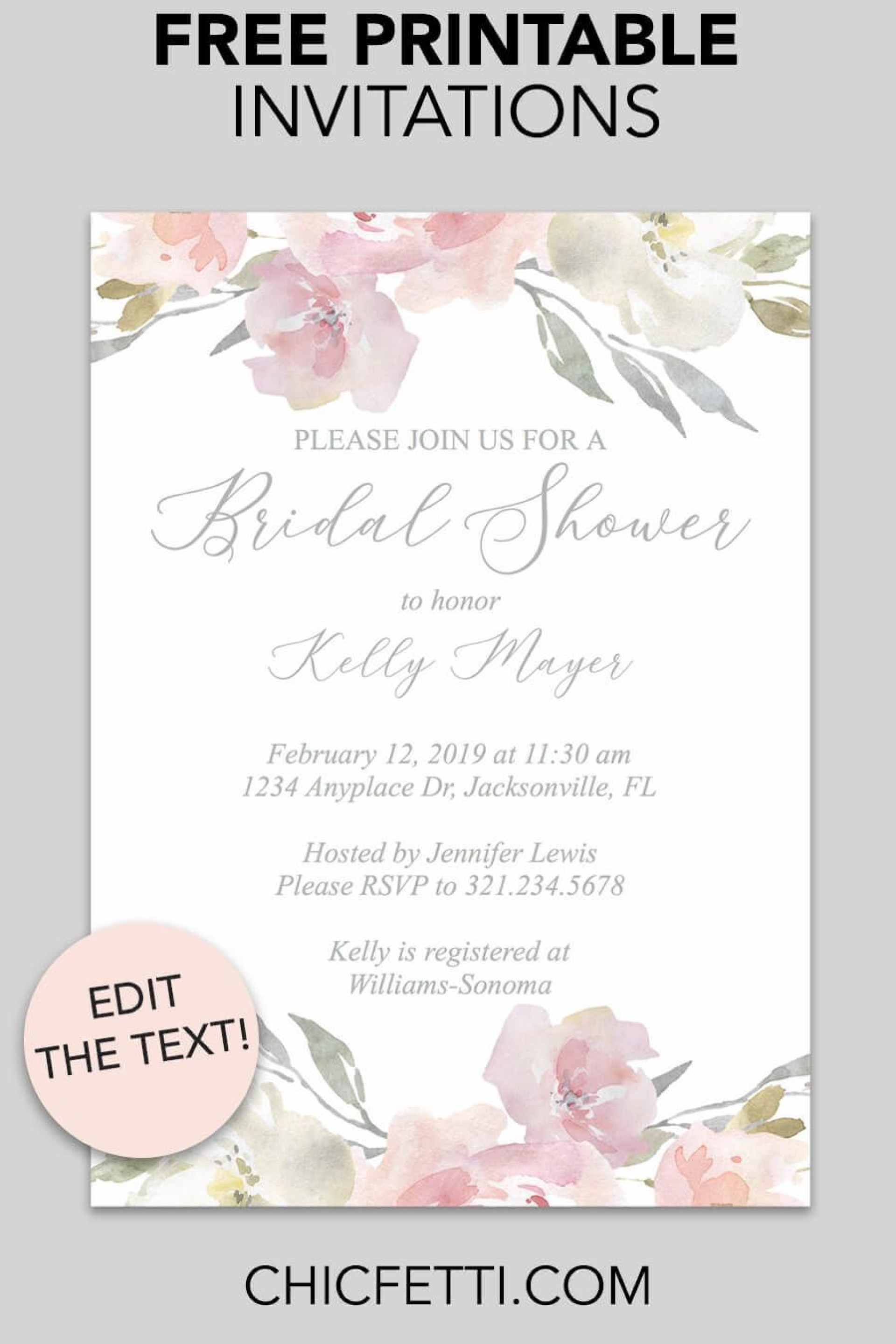 000 Magnificent Free Bridal Shower Invite Template Picture  Templates Invitation To Print Online Wedding For Microsoft Word1920