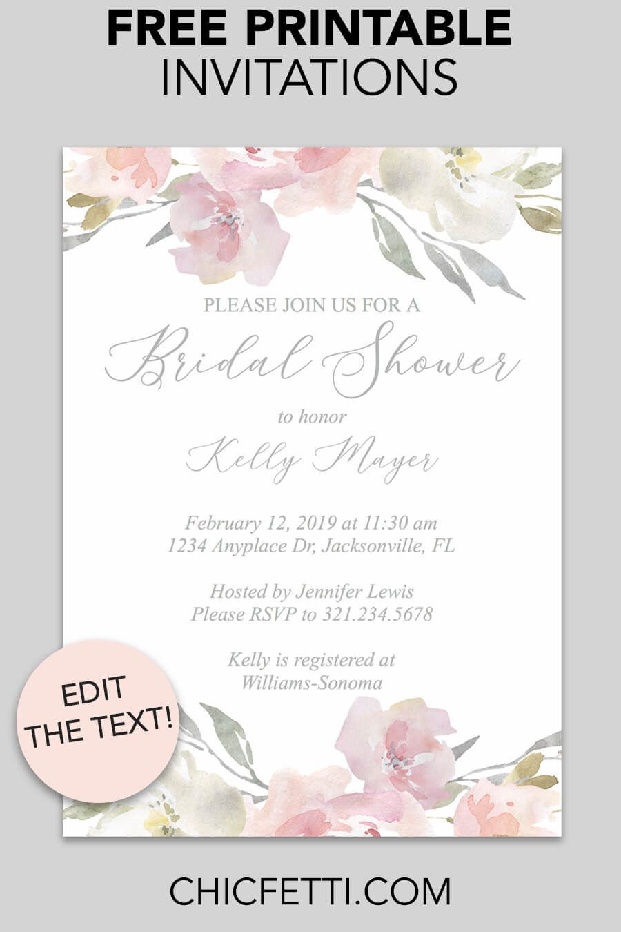 000 Magnificent Free Bridal Shower Invite Template Picture  Templates Invitation To Print Online Wedding For Microsoft WordFull