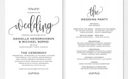 000 Magnificent Free Downloadable Wedding Program Template Idea  Templates That Can Be Printed Printable Fall Reception
