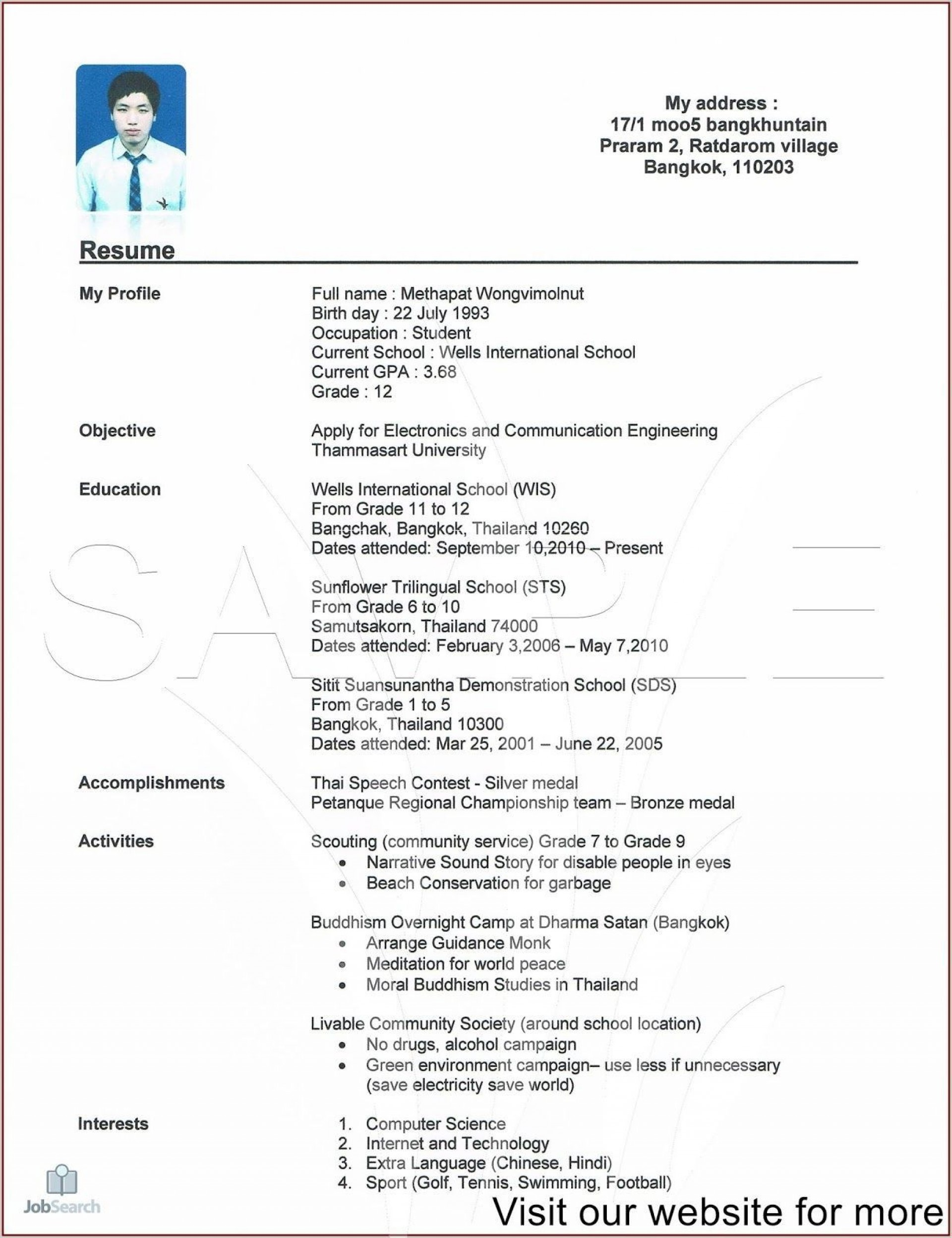 000 Magnificent Free High School Graduate Resume Template Def  Templates1920