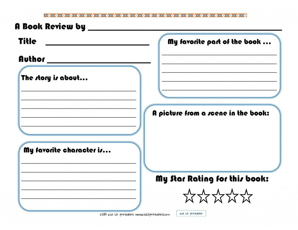 000 Magnificent Free Printable Book Report Template For 6th Grade High Definition Large