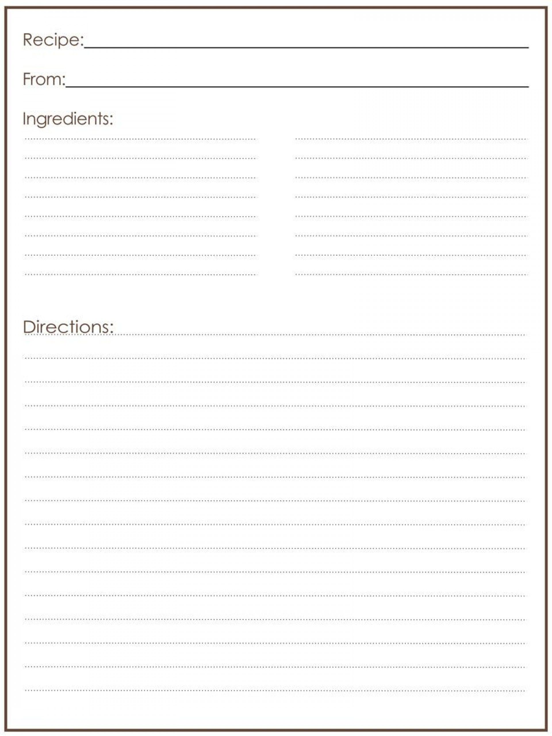 000 Magnificent Full Page Recipe Template High Def  Card For Word Free EditableFull