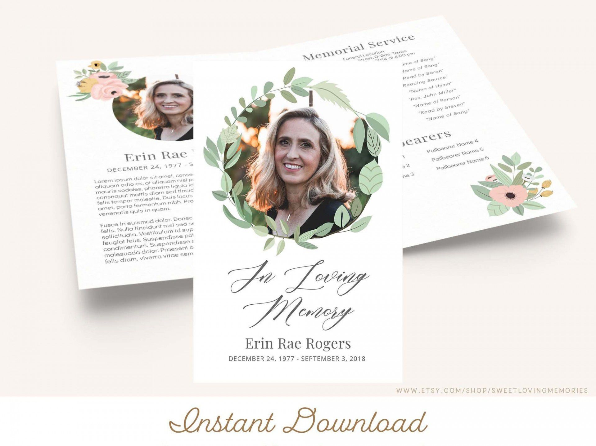 000 Magnificent In Loving Memory Template Image  Templates WordFull