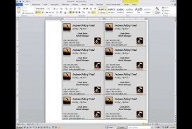 000 Magnificent M Office Busines Card Template Idea  Microsoft 2010 2003 2007
