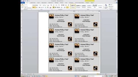 000 Magnificent M Office Busines Card Template Idea  Microsoft 2010 2003 2007480