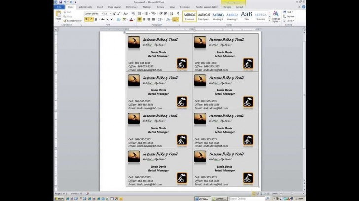 000 Magnificent M Office Busines Card Template Idea  Microsoft 2010 2003 2007728