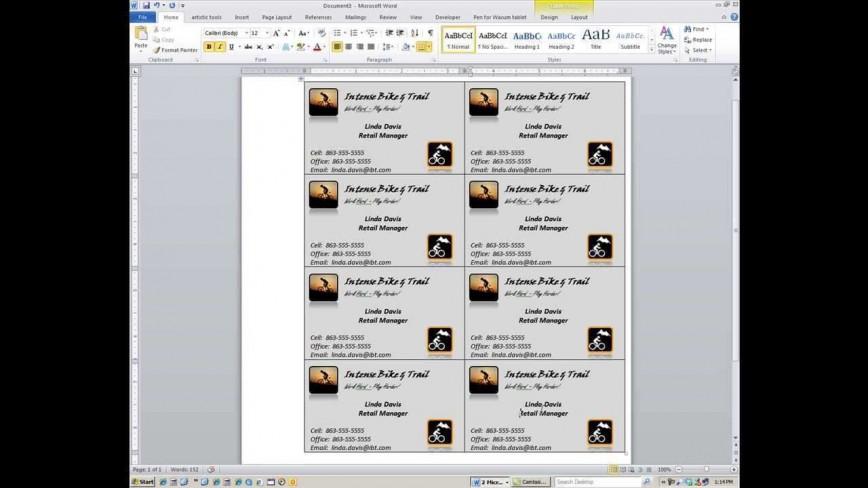 000 Magnificent M Office Busines Card Template Idea  Microsoft 2010 2003 2007868