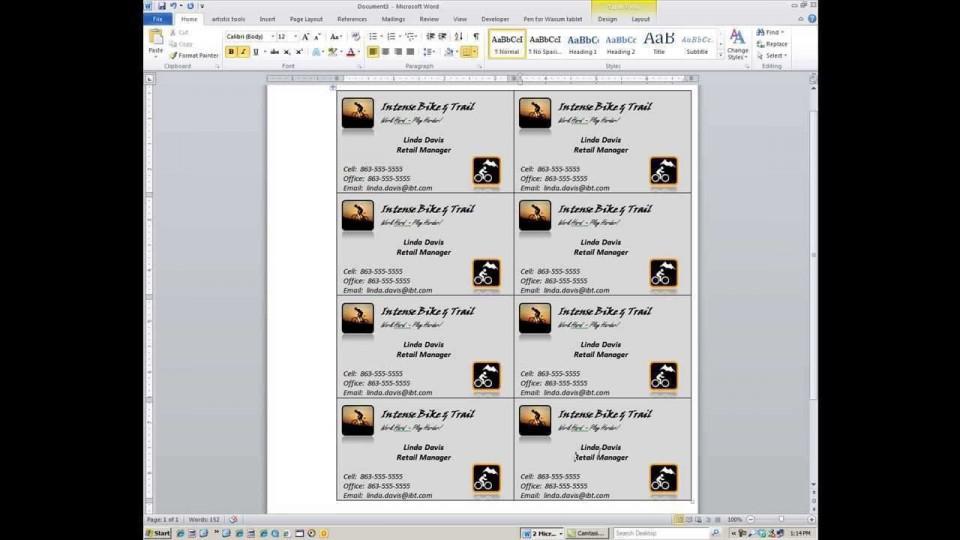000 Magnificent M Office Busines Card Template Idea  Microsoft 2010 2003 2007960