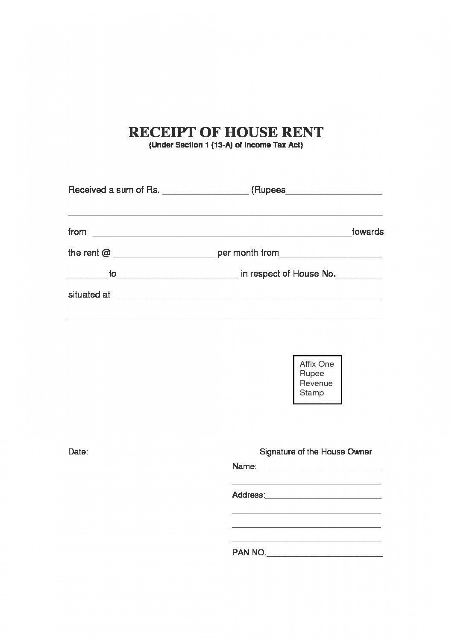000 Magnificent Rent Payment Receipt Template High Definition  Excel Free1920