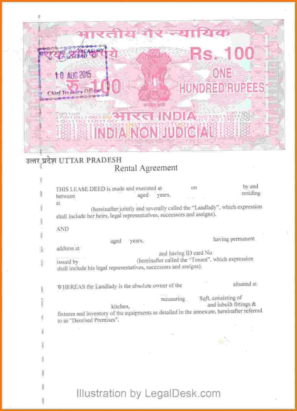 000 Magnificent Room Rent Agreement Format In Hindi Pdf Example Large