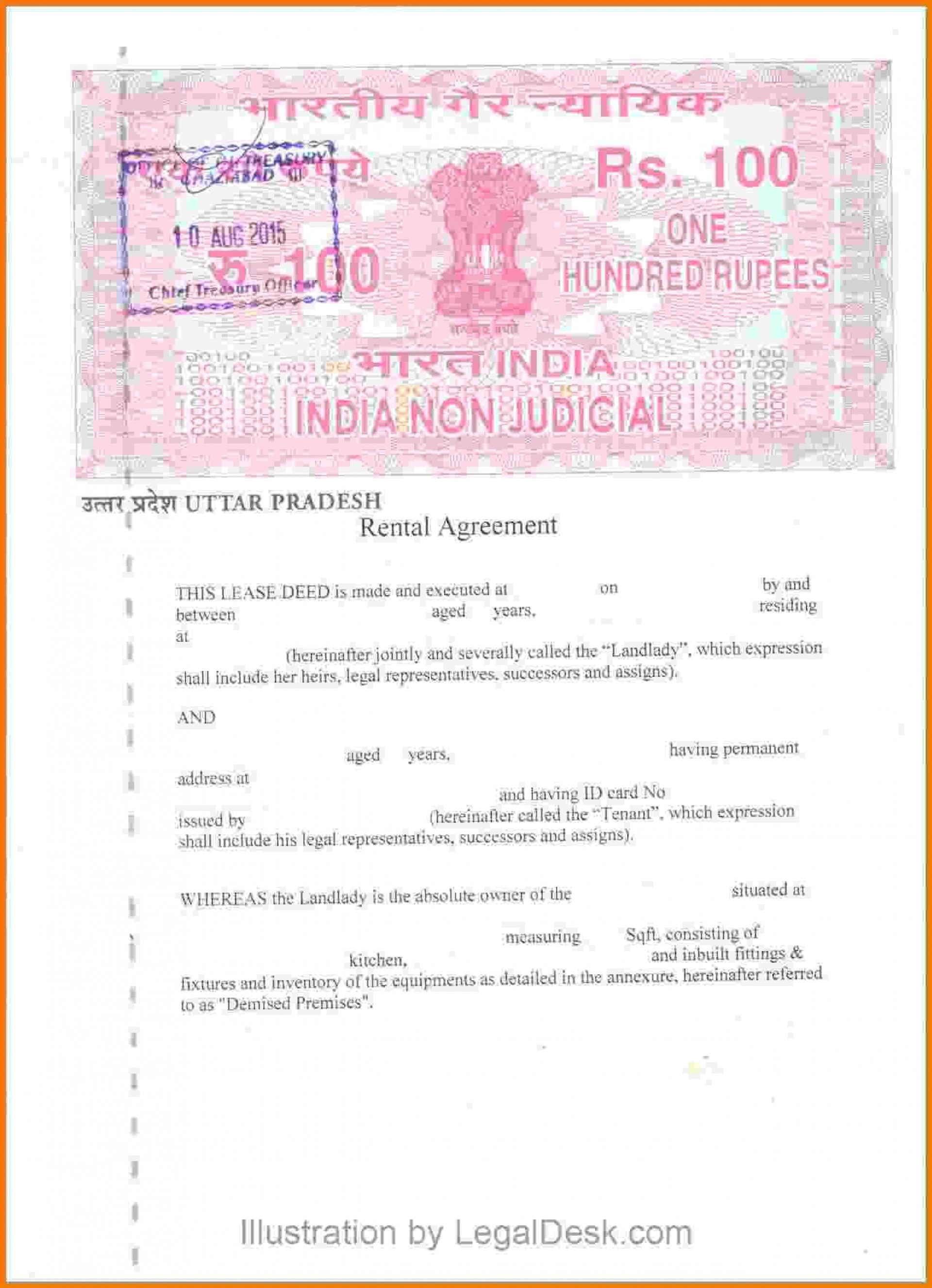 000 Magnificent Room Rent Agreement Format In Hindi Pdf Example 1920