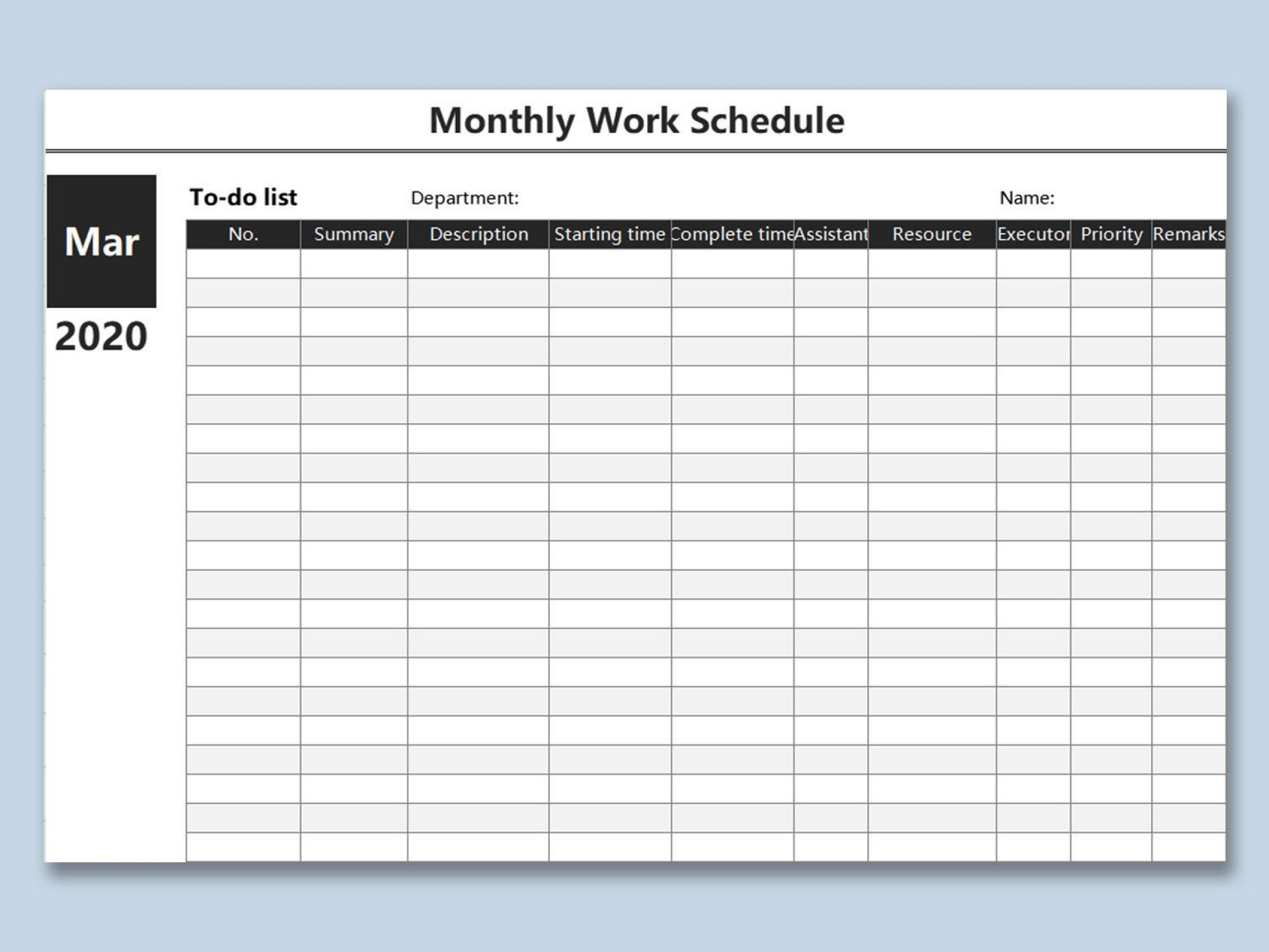 000 Magnificent Weekly Work Schedule Template High Resolution  Pdf Free Excel1920