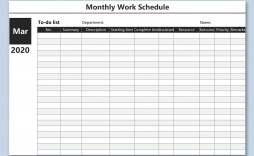 000 Magnificent Weekly Work Schedule Template High Resolution  Pdf Free Excel