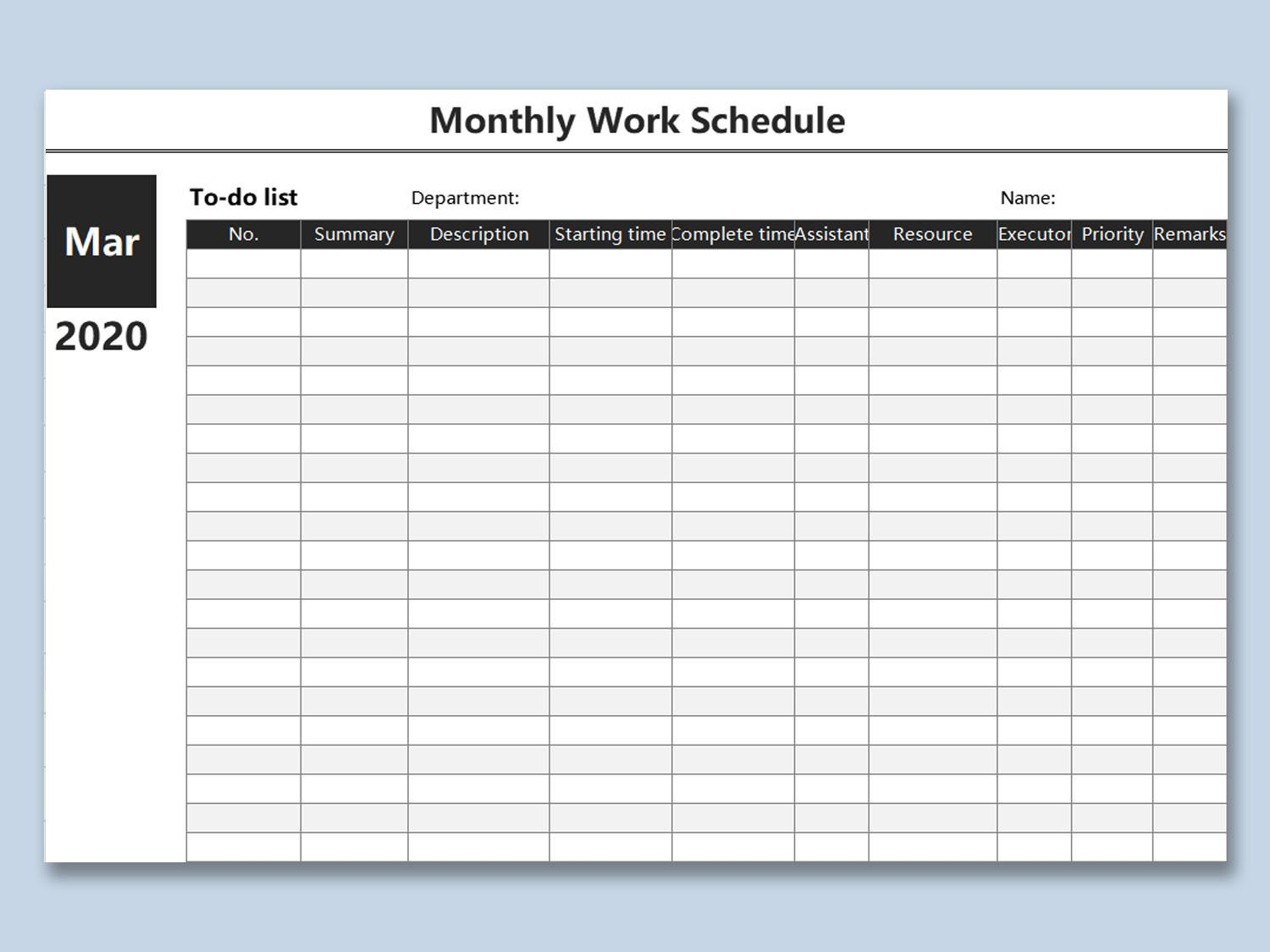 000 Magnificent Weekly Work Schedule Template High Resolution  Pdf Free ExcelFull