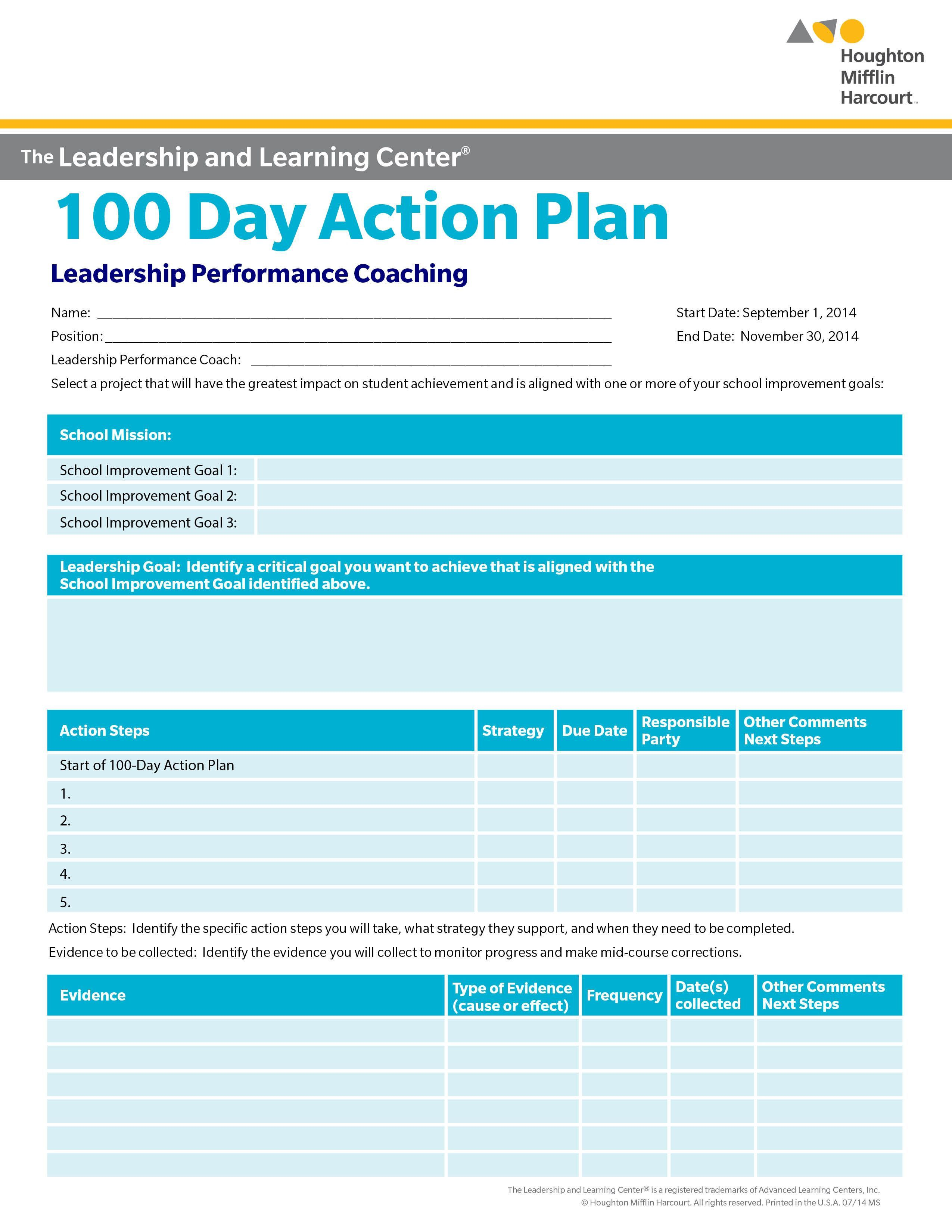 000 Marvelou 100 Day Plan Template Example  For Interview Word Excel FreeFull