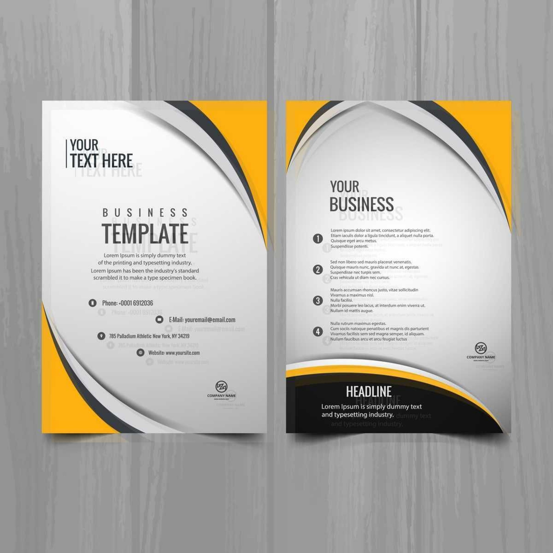 000 Marvelou Busines Brochure Design Template Free Download Sample 1920