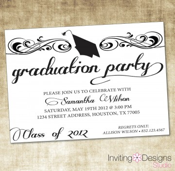000 Marvelou College Graduation Invitation Template Highest Quality  Party Free For Word360