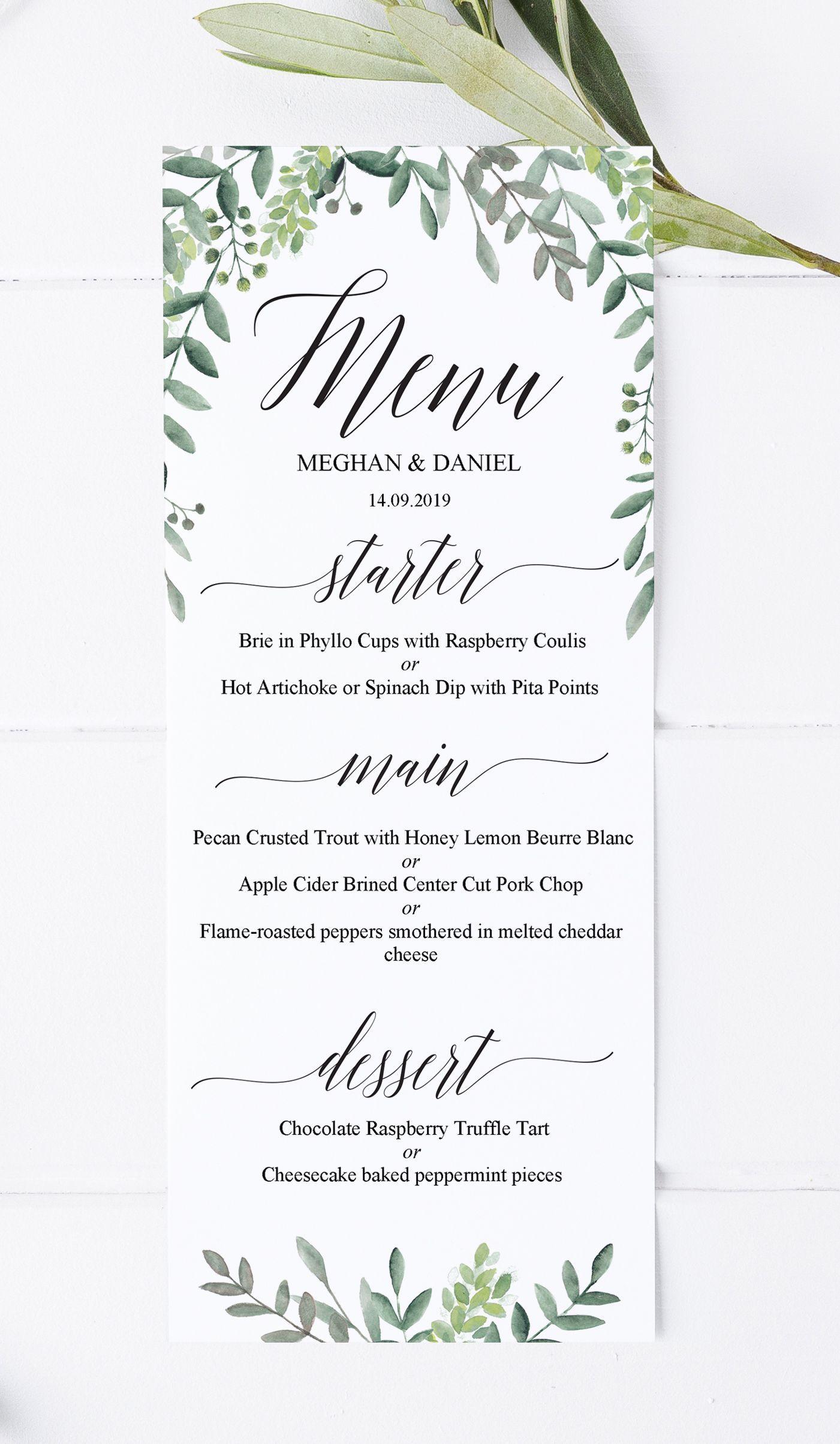 000 Marvelou Diy Wedding Menu Template Sample  Free CardFull