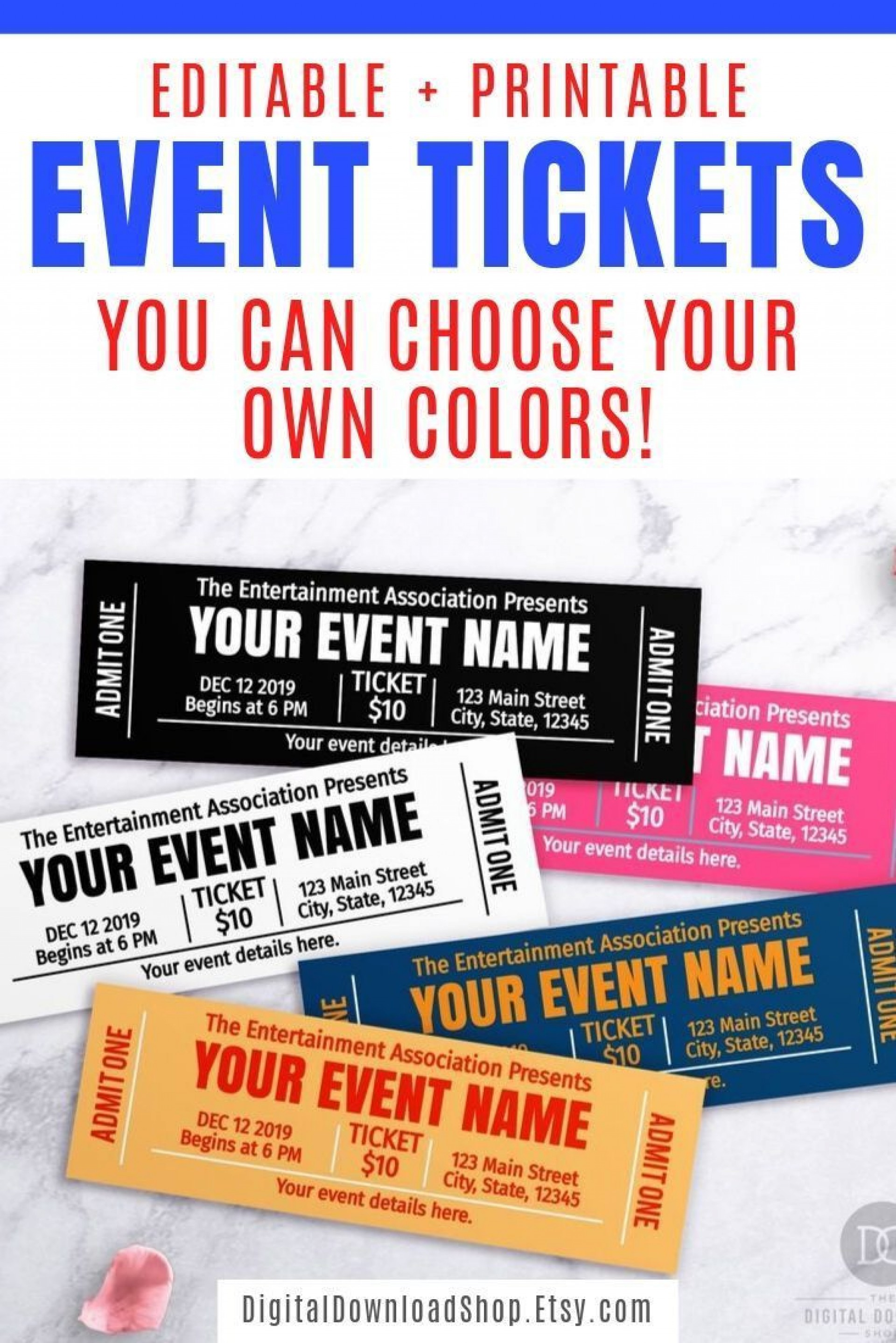 000 Marvelou Free Event Ticket Template Printable Example 1920