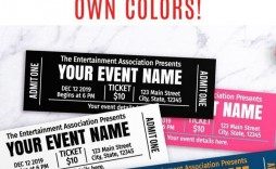 000 Marvelou Free Event Ticket Template Printable Example