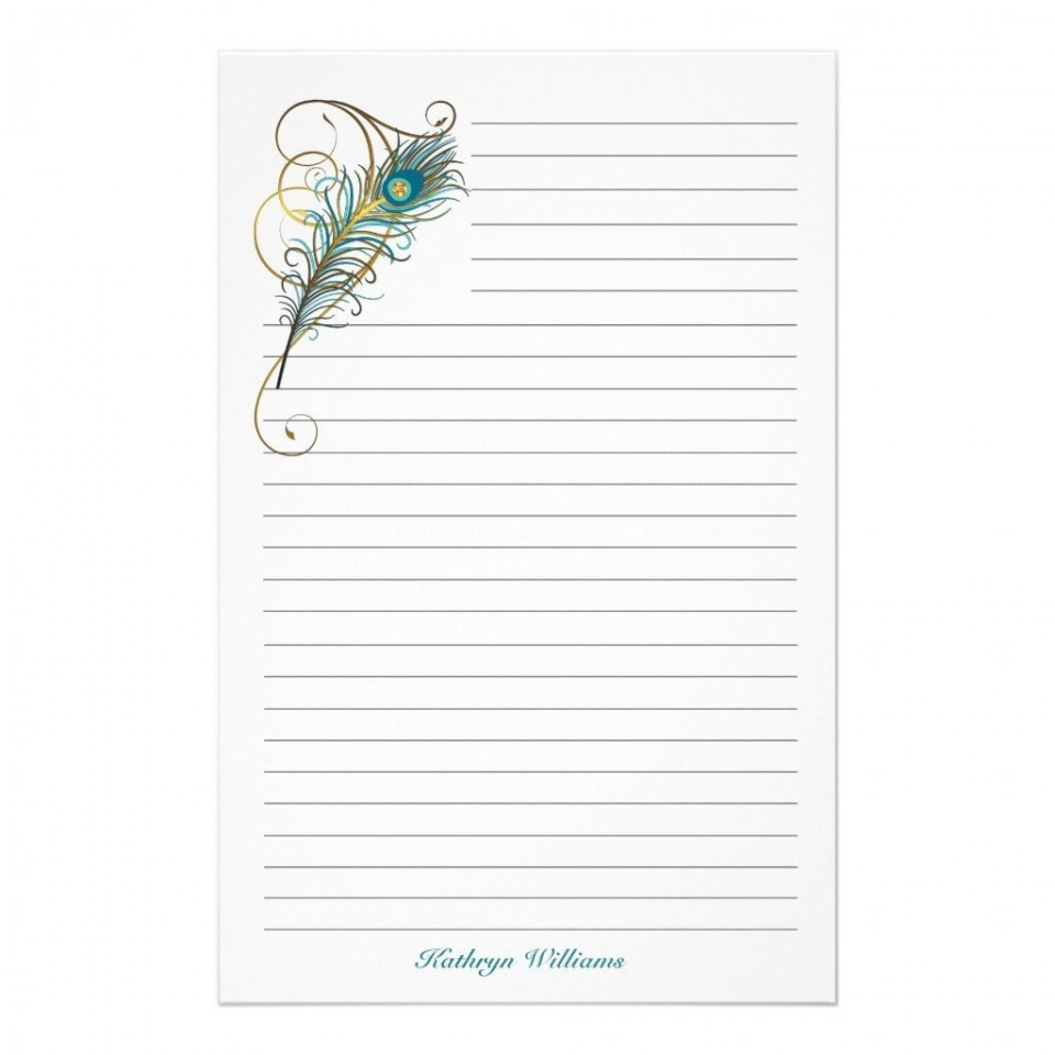 000 Marvelou Free Printable Stationery Paper Template Example 960