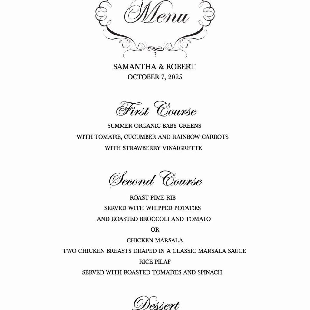 000 Marvelou Free Wedding Menu Template High Resolution  Templates Printable For MacLarge