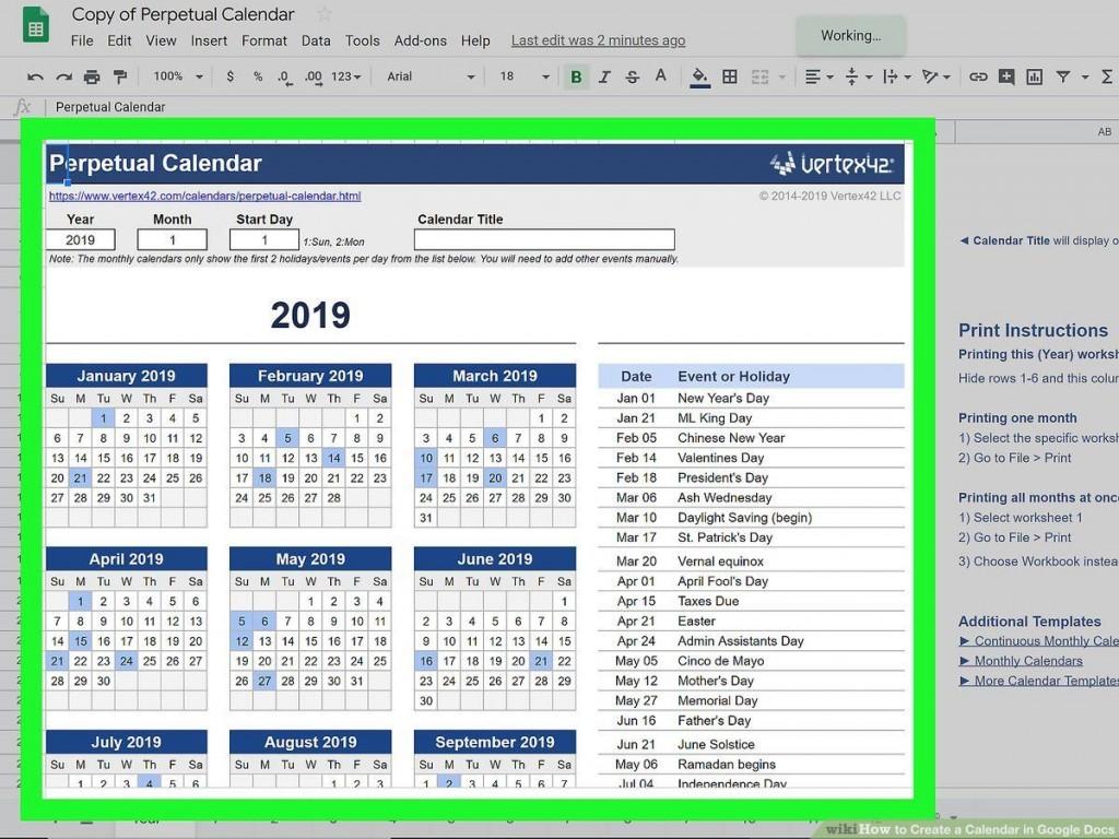 000 Marvelou Google Sheet Calendar Template Design  Templates Monthly Spreadsheet 2020 2018Large