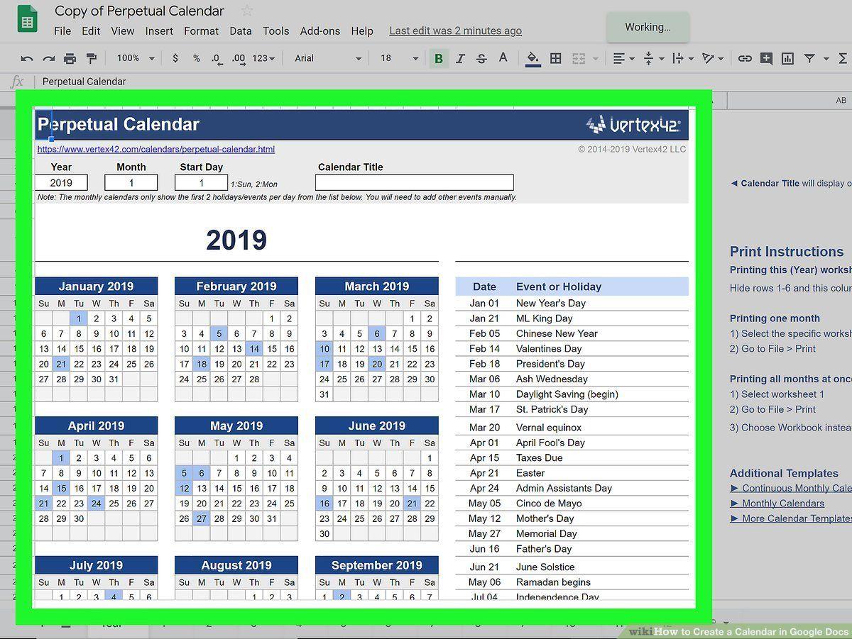 000 Marvelou Google Sheet Calendar Template Design  Templates Monthly Spreadsheet 2020 2018Full