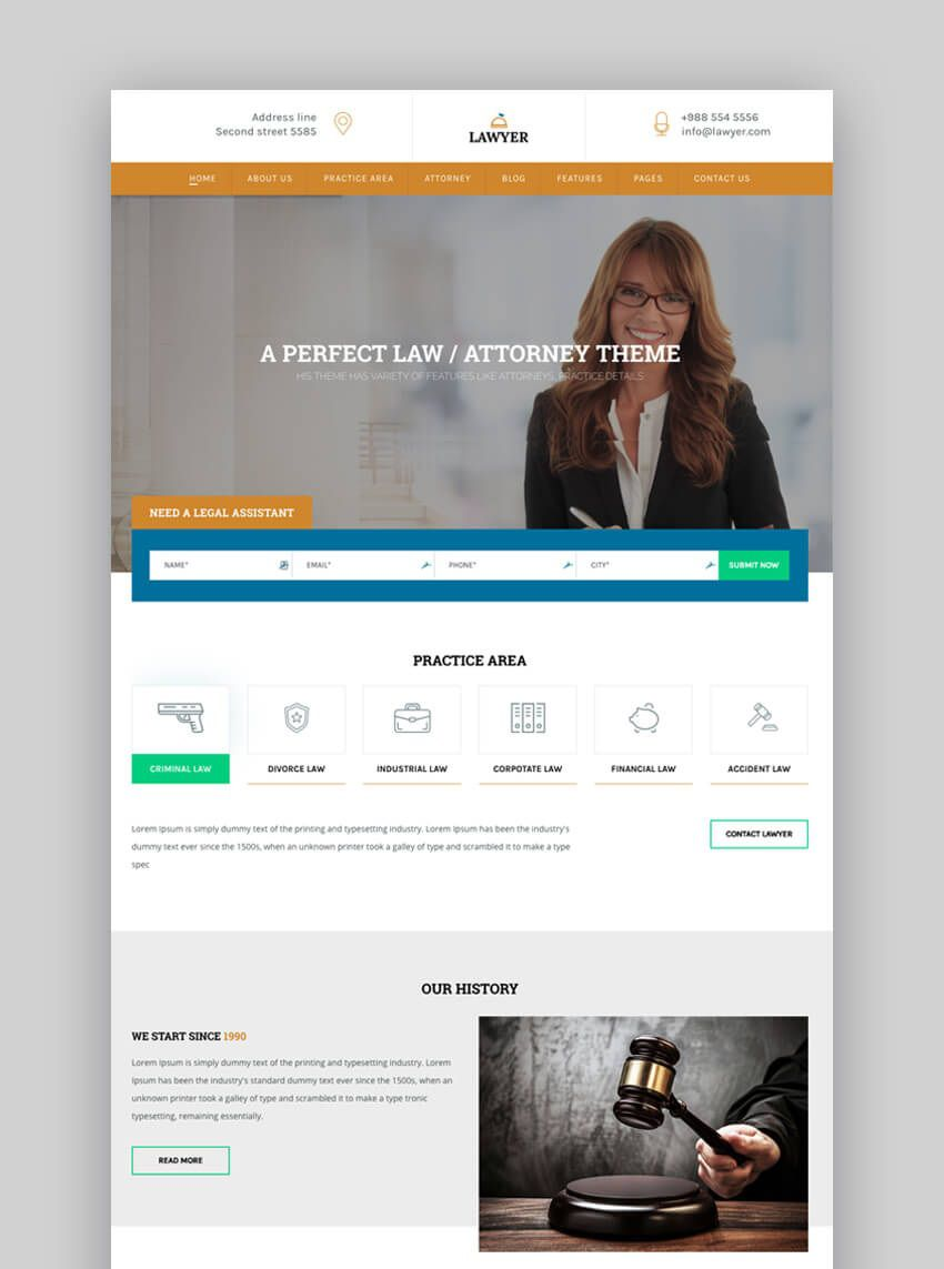 000 Marvelou Law Firm Website Template Free High Resolution  WordpresFull