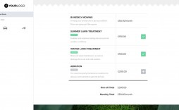 000 Marvelou Lawn Care Bid Sheet Template High Def  Excel
